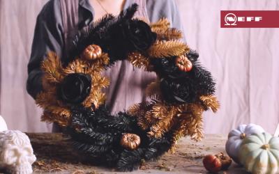 How to create a Halloween wreath